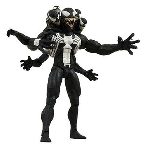 Wholesale 1pcs cm spider man Venom Joint movable pvc Action Figure dolls Christmas gift Collection model toy