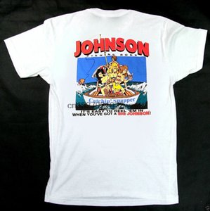 Wholesale New s Big Johnson T Shirt Fishing Rods Reel Cotton Tee Vintage RAre TOP USA