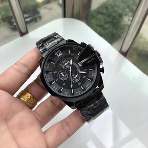 Wholesale 52mm dial big bang men watch Top quality Full Stainless Steel band all sub dials work stopwatch wrist wathes for mens best gift Waterproof
