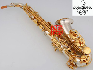 Best Quality Brand New Yanagisawa A-WO37 Alto Saxophone Silver Gold Key Super Professional Sax With Mouthpiece