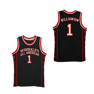 Wholesale #1 Zion Williamson McDONALD'S ALL AMERICAN Retro Classic Basketball Jersey Mens Stitched Custom Number and name Jerseys