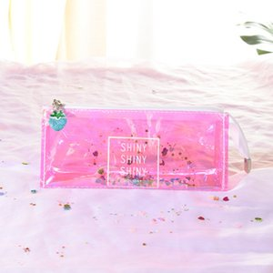 PVC Laser Transparent Pencil Bag CartoonPen Pencil Cases Small Makeup Tool Bag Storage Pouch f Purse Hot Sale In Stock Factory Price