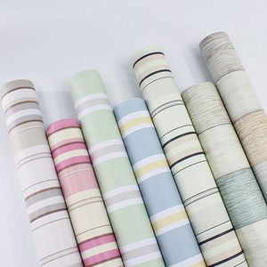 Waterproof Fireproof Stripe Thickening Wallpaper TV Background Wall Bedroom Anti Static Colorful New Decoration Wallpapers Hot Sale 2 7pyD1 on Sale
