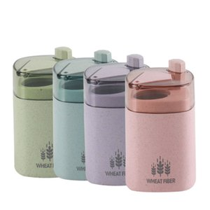 Wholesale New Creative Ecofriendly Wheat Straw Automatic Toothpick Holder Pocket Small Toothpick Storage Case Portable Box