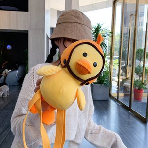 Wholesale Little Yellow Ducks Shape Casual Shoulder bags for women Cartoon Female Coin Purse Shoulder Messenger Bags torebki damskie