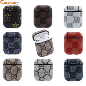 Wholesale Luxury Designer PU Leather For Airpods Cases Protective Cover Hook Clasp Anti Lost Airpod Earphone Case Protector With Retail Package