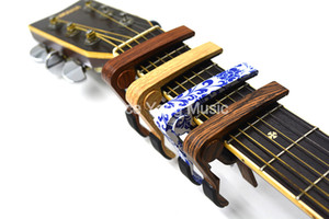 Rose Wood Sapele Blue&White PorcelainAcoustic Electric Guitar 6-Strings Guitar Capo Change Capos Key Clamp Free Shipping