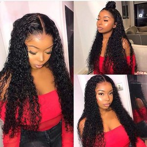 360 Lace Frontal Wig Pre Plucked with Baby Hair 130% Density Curly Lace Front Human Hair Wigs for Women Brazilian Remy