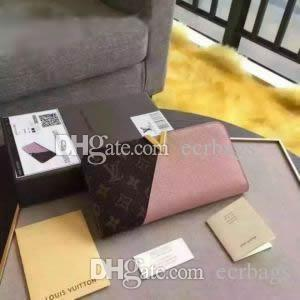 Wholesale new L bag billfold High quality Plaid pattern women wallet men s pures high end Fashion brand design L wallet