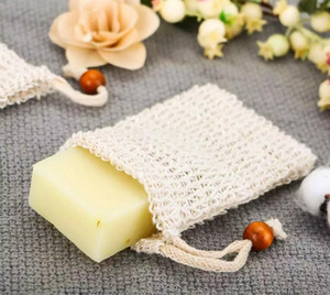 Mesh Soap With Wooden Beads Foaming Net Bubble Mesh Bag Skin Bathroom Bath Brushes Sponges Scrubbers Clean Tools on Sale
