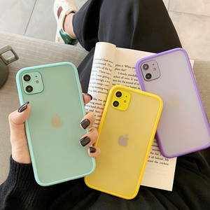 Mint Hybrid Simple Matte Bumper Phone Case for Iphone 11 Case Pro Max Xr Xs 6s 8 7 Plus Shockproof Soft Tpu Silicone Clear Cover