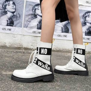 Wholesale Women s Genuine Leather Desert Boots Female British White Jason Martins Boots Sole Thick soled Ankle for Women