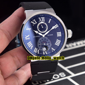 Wholesale steel reserve for sale - Group buy New Maxi Marine Chronometer Black Dial Power Reserve Automatic Mens Watch Steel Case Rubber Strap Sport Watches Hello_watch