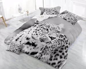 Wholesale tigers bedding sets for sale - Group buy Reactive printing tiger lovely cat Wolf lion Adult bedding set sheet bed cover pillowcases king dekbedovertrek bedclothes
