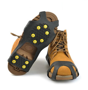 Wholesale shoes for climbing resale online - 2018 Outdoor Unisex Snow Antislip Spikes Grips Grippers Crampon Cleats For Shoes Boot Overshoses silicone nonslip Climbing shoes rubbe cover