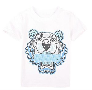 Wholesale new Summer T Shirts For Boy Girl Tops Tiger Head Letter printing T Shirt Boy Clothing Brand Short Sleeve Tshirt Kids Tops