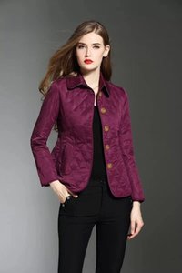 Wholesale NEW ITEM women fashion England short style thin cotton padded coat brand designergold buttons short jackets size S XXL F220