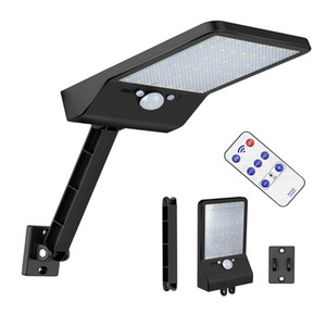 solar street light 48 LED Solar Powered Motion Sensor Security Lamp 800LM Waterproof desk wall mount remote control rotate bracket