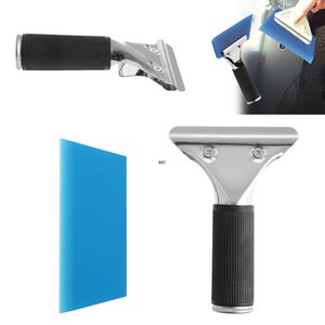 Wholesale 1Pc Car Auto Window Film Tinting Squeegee Razor Blade Scraper Tool With Handle Blue Drop shipping INY