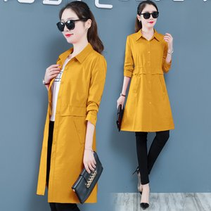 Wholesale New women coat autumn spring female Trench coat for women Fashion female clothing thin Youth clothing Korean style K4453