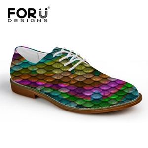 FORUDESIGNS Mermaid Scales Brand Designer Men Leather Oxfords Shoes Casual Synthetic Autumn Men's Fashion Business Men Shoes Man