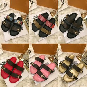 Wholesale 2018 spring summer sandals women fashion designer shoes men genuine leather with box dust bag