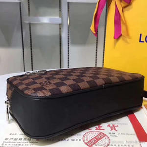 Wholesale Fashion Luxury Plaid Flower Classic Damier Graphite Kasai Bags Mono Toiletry Kits Palm Wrists for Men Wallet Handbags Clutch Bag #8745