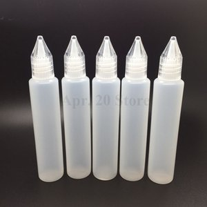 Wholesale Pen shaped unicorn oil bottle PE material ml electronic cigarette oil bottle MP186