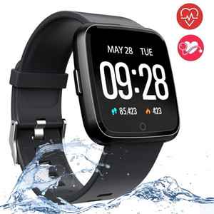 1.3 Inch Touch Screen Smart Watch IP67 Waterproof Sport Bracelet Motion Record Blood Pressure Heart Rate Monitor Smartwatch For IOS Andriod on Sale