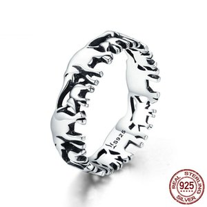 Wholesale sterling silver elephant jewelry resale online - Trendy Genuine Sterling Silver Band Stackable Animal Collection Elephant Family Finger Rings for Women Jewelry factory low price
