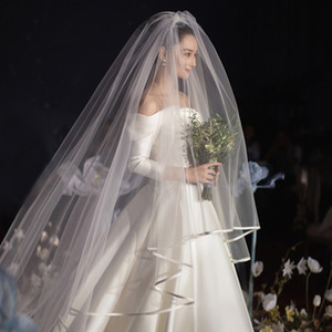 Free Shipping 2019 New Bridal Veils With Comb 2 layers In Stock Soft Tulle High Quality For Bride Long Wedding Veils Cheap