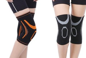 Wholesale knee elbow pads soccer for sale - Group buy cheap protect Jacquard knitting nylon kneepad sports warm protection Elbow Knee Pads football fitness Basketball Sports Soccer training