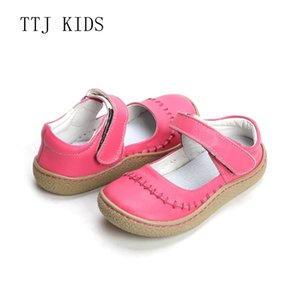 Wholesale Ttj Kids Top Brand Quality Genuine Leather Children Toddler Girl Kids Shoes For Fashion Barefoot Sneaker Mary Jane Free Ship Y19051303