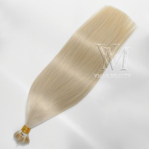 Wholesale 26 platinum blonde human hair extensions for sale - Group buy VMAE Remy Virgin Platinum Blonde Soft Keratin Fusion g g Pre bonded Double Drawn Straight Nano Ring Tip Raw Human Hair Extensions