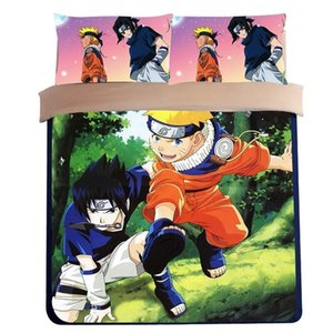 Wholesale Japanese style Anime One Piece naruto Totoro Bedding sets printed kids boys gift Twin Full Queen King Duvet Cover bed flat sheet