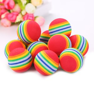 Diameter Pet Toy Baby Dog Cat Toys Rainbow Colorful Play Balls for Pets Products Funny EVA Balls Top Quality