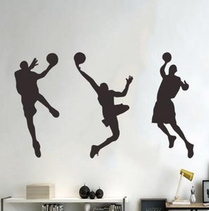 Wholesale Sports basketball boy bullfighting trio wall stickers school bedroom wall decorative wall stickers creative fashion home