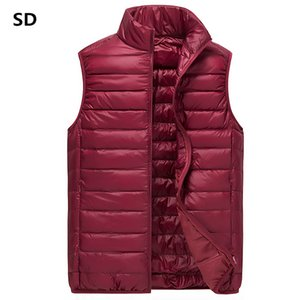 Vest Men Winter Duck Down Vest Mens Casual Sleeveless Jackets Ultralight Vests Colete Masculino Men's New Waistcoat for men 988 on Sale