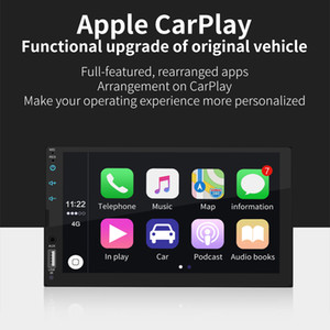 Wholesale 7 Full Screen Touch Car Radio MP5 Player Support Real Carplay for Iphone Bluetooth HD Video Play Reverse Camera USB AUX
