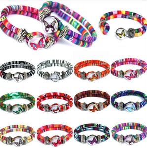 Wholesale National Charm Bracelets Creative Trendy Bracelet Snap Button Jewelry Wristband Best Gift DIY jewelry Fashion Party Favor Gifts LT1267