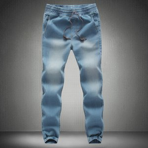 Men Jeans Pants 2017 New Brand Man Elastic Denim Joggers Male Slim Fit Jeans Trousers Mens Pencil Pants Man Denim on Sale