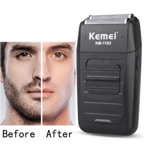 Rechargeable Cordless Electric Shaver for Men Twin Blade Reciprocating Beard Razor Face Care Multifunction Strong Trimmer KM-1102