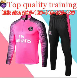 Wholesale 2019 2020 PSG kids tracksuit 18 19 20 Paris AJ child Jordam set Survetement boy MBAPPE PSG maillot de foot football training suit