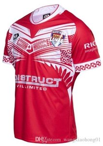 Wholesale TONGA HOME RUGBY LEAGUE JERSEY Tonga rugby jerseys Tonga rugby jerseys size S XL can print