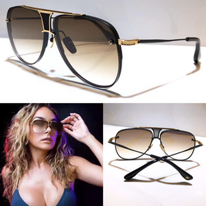 d carré achat en gros de-news_sitemap_homeD Deux lunettes de soleil Hommes Femmes Metal Retro Sunglasses de mode Square Square Square Sans UV UV Lentilles Protection de plein air Eyewear Style de vente chaud