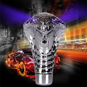Wholesale Universal Car Manual Gear Shift Knob Stick Led Light Eye Chrome Cobra Snake Cool Shift Lever Auto Accessories