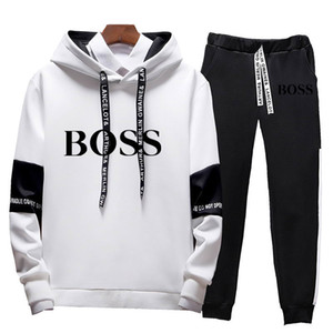 Hot sale set Brand sweatsuit Tracksuit Men hoodies pants Mens Clothing Sweatshirt Pullover women Casual Sport Tracksuit Sweat Suit BOS688#