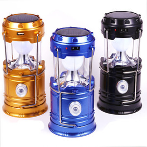 Wholesale Solar lamps new Style Portable Outdoor LED Camping Lantern Solar lights Collapsible Lights Outdoor Camping Hiking Super Bright lamp