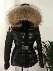 Wholesale Classic Women White Duck Down Jackets hooded Coat Warm Clothes Luxury Lady Black Coats With Fur Hooded Arm Brand Designers Super Qualit