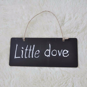Wholesale Mini Chalkboard Blackboard Wooden Hanging Message Board Sign x8x0 cm Gift Tag Buffet Black Board Shop Bar Home Office Supplies lin4778